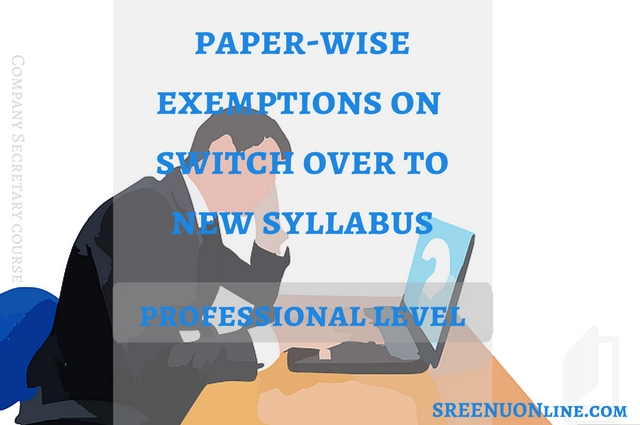 Paper wise exemptions on CS final