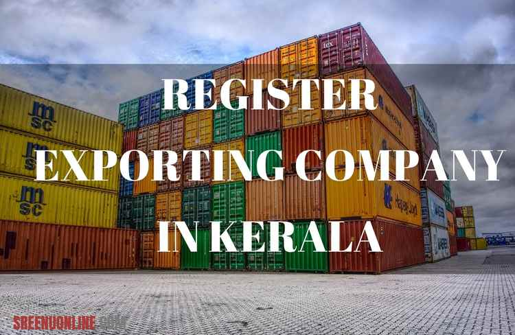 How to register exporting company in Kerala